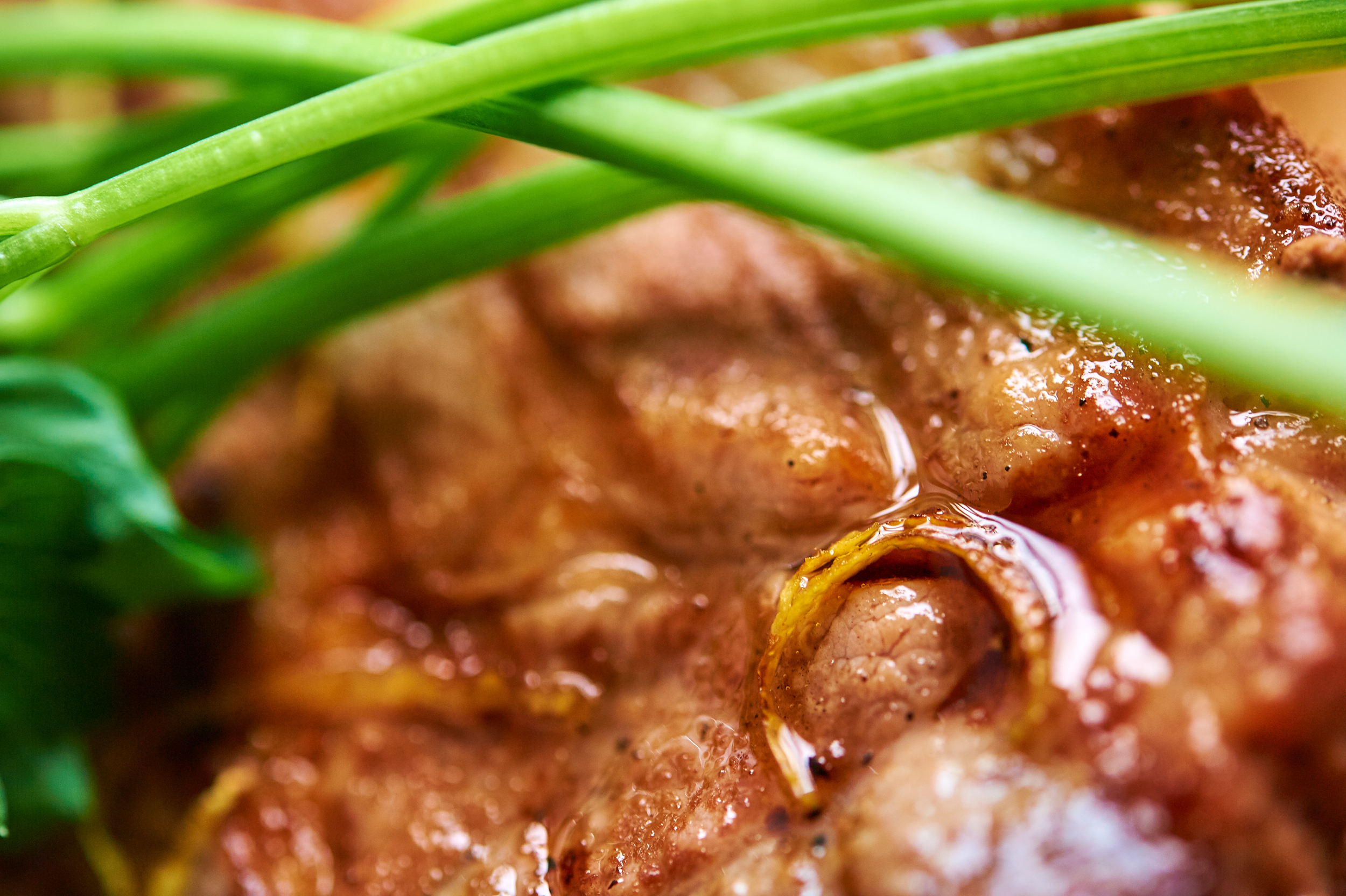 Closeup grilled meat